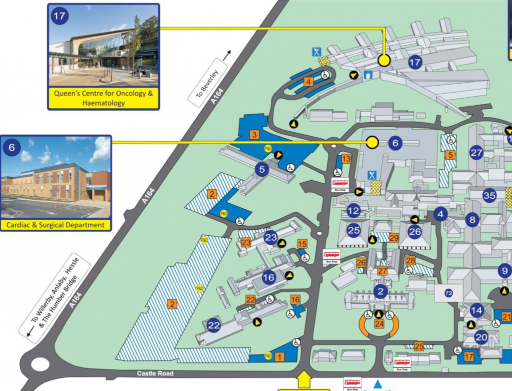 Castle hill hospital cottingham site map