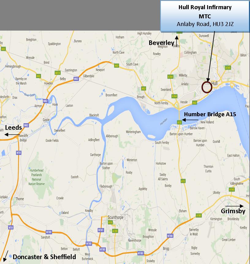 Hull Royal Infirmary Map Hull Major Trauma Centre, Hull Royal Infirmary – Information For  Hull Royal Infirmary Map