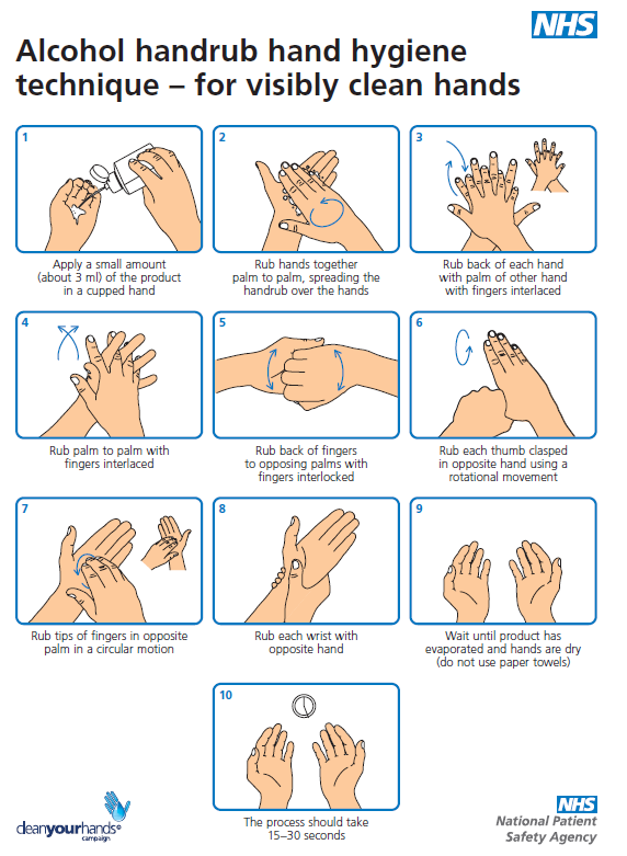 "final hand washing leaflet Who actively participated in the work process up to the final publication of the  document (see last page  131 hand hygiene practices among health-care  workers 45  solutions"" in information leaflets to be produced and distributed  locally."