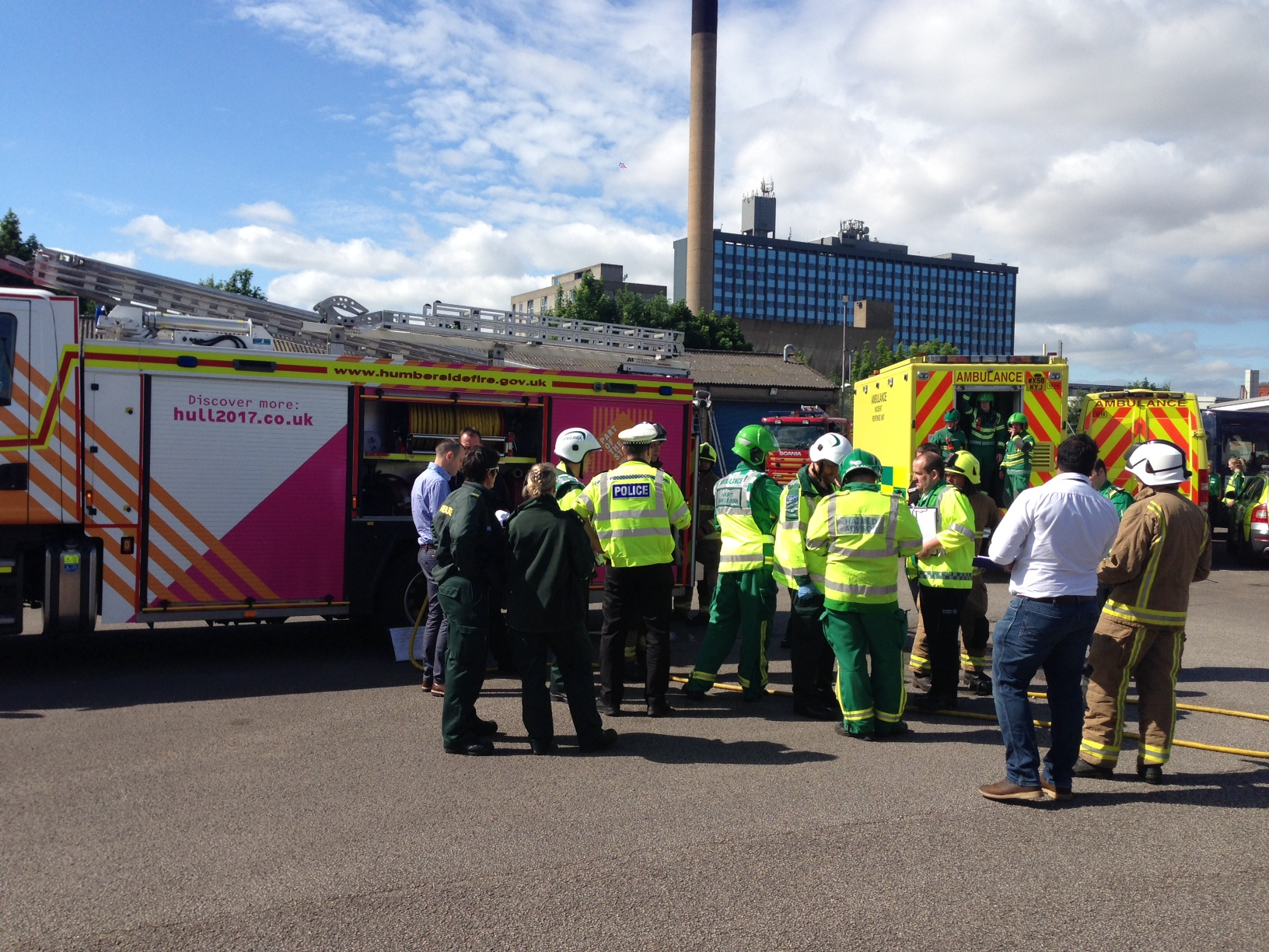 Hull University Teaching Hospitals NHS TrustNewsEmergency services to practise major incident response