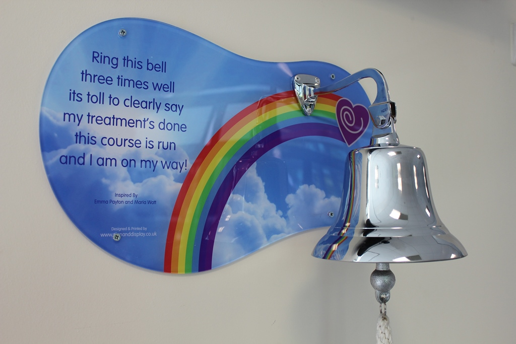 End of treatment bell brings hope for scores of cancer