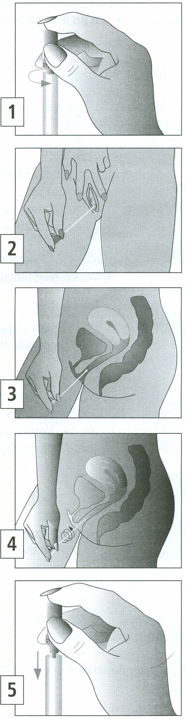 Instructions for self-collection of vaginal swabs