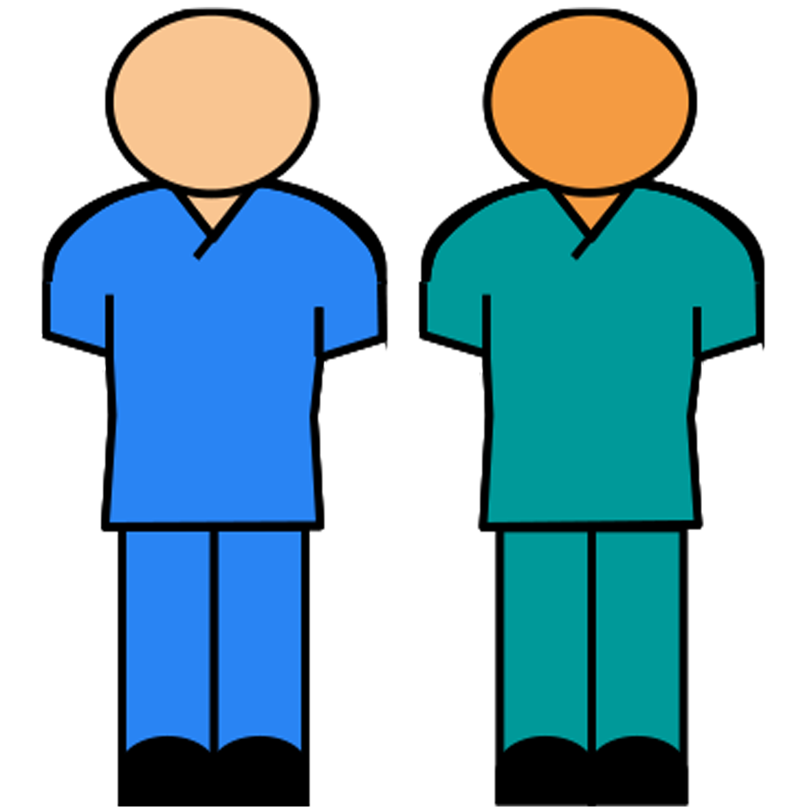 Blue or green scrubs